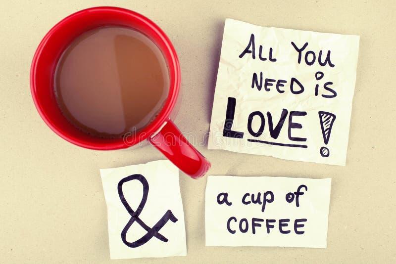 αγάπη εικονογράφων απεικόνισης φλυτζανιών καφέ πλίθας που γίνεται στοκ εικόνα με δικαίωμα ελεύθερης χρήσης