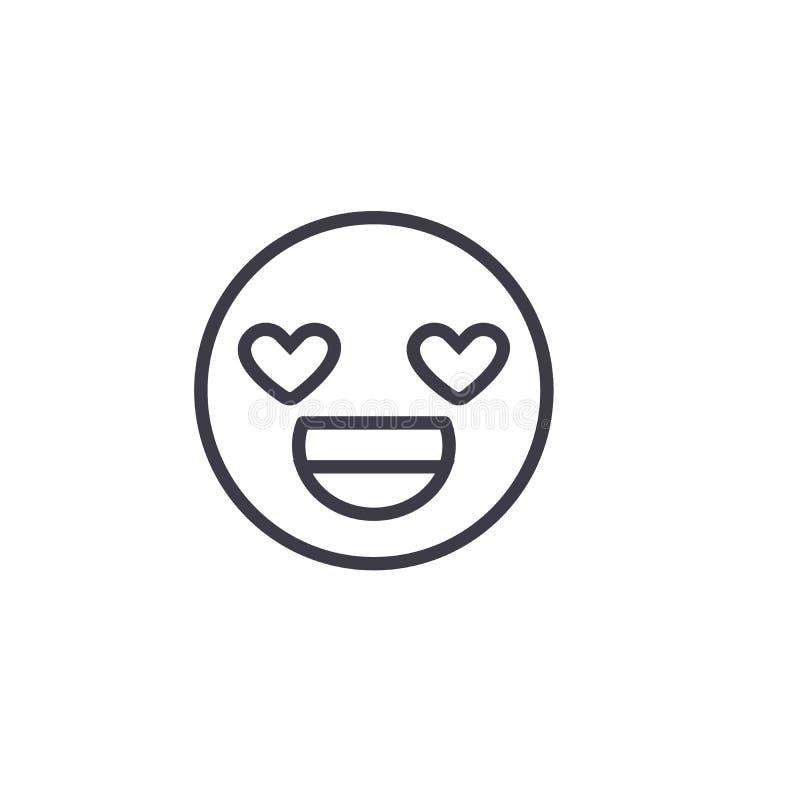 Αγάπη εσείς editable διάνυσμα γραμμών έννοιας Emoji, εικονίδιο έννοιας Αγάπη εσείς γραμμική απεικόνιση συγκίνησης έννοιας Emoji διανυσματική απεικόνιση