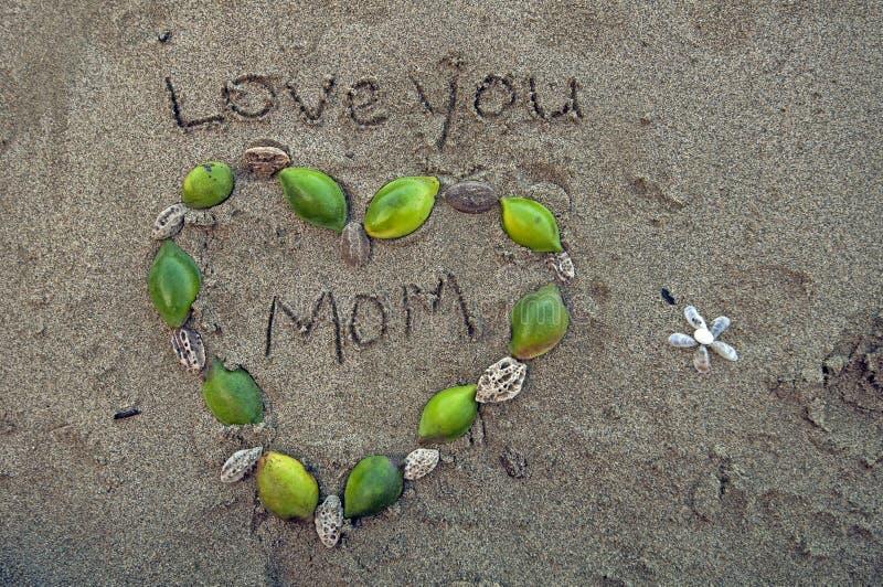 Αγάπη εσείς mom στοκ εικόνα με δικαίωμα ελεύθερης χρήσης