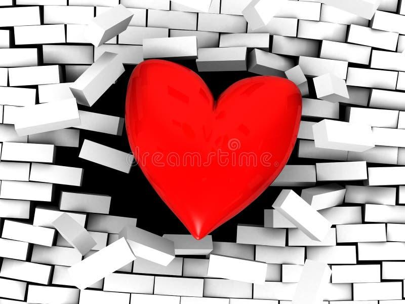 αγάπη ισχυρή απεικόνιση αποθεμάτων