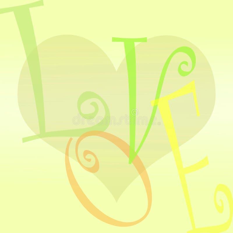αγάπη καρδιών ανασκόπησης διανυσματική απεικόνιση