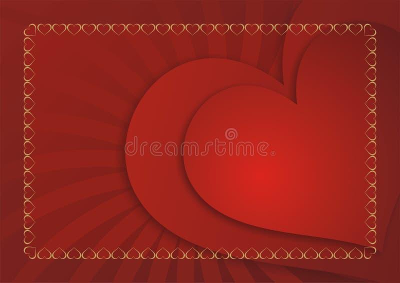 αγάπη καρτών ανασκόπησης απεικόνιση αποθεμάτων