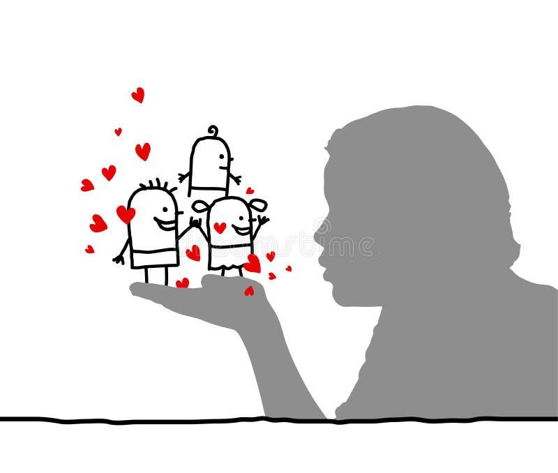 αγάπη κατσικιών διανυσματική απεικόνιση