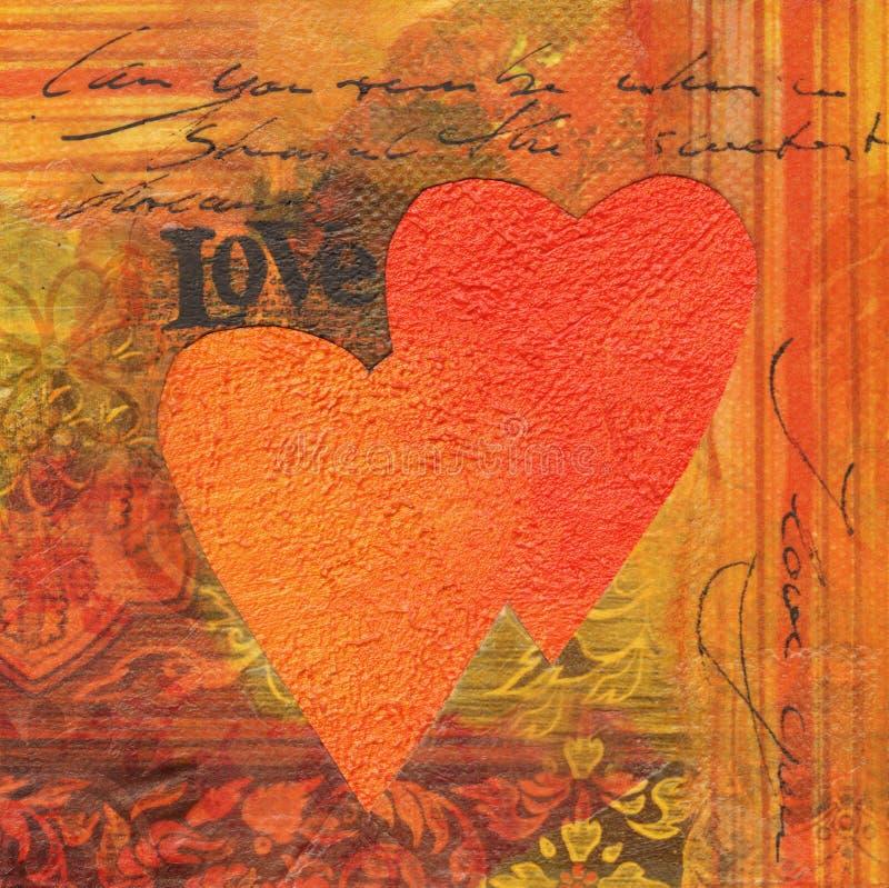 αγάπη κολάζ απεικόνιση αποθεμάτων