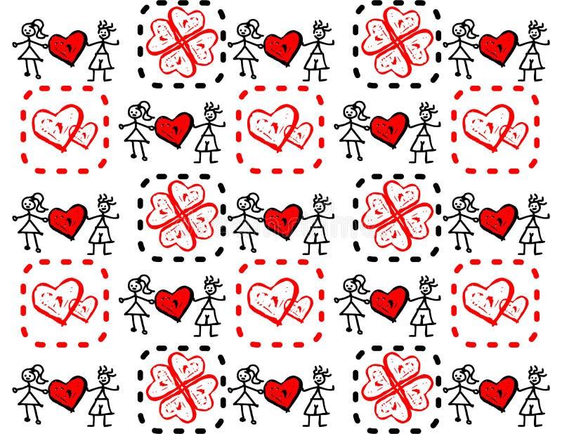 αγάπη κοριτσιών αγοριών διανυσματική απεικόνιση