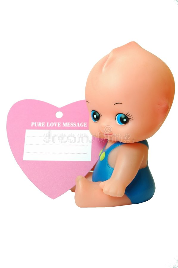 αγάπη κουκλών καρτών μωρών καθαρή Στοκ φωτογραφία με δικαίωμα ελεύθερης χρήσης