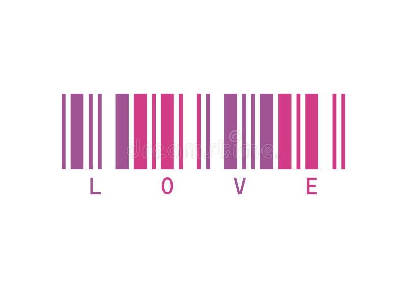 αγάπη κώδικα ράβδων απεικόνιση αποθεμάτων
