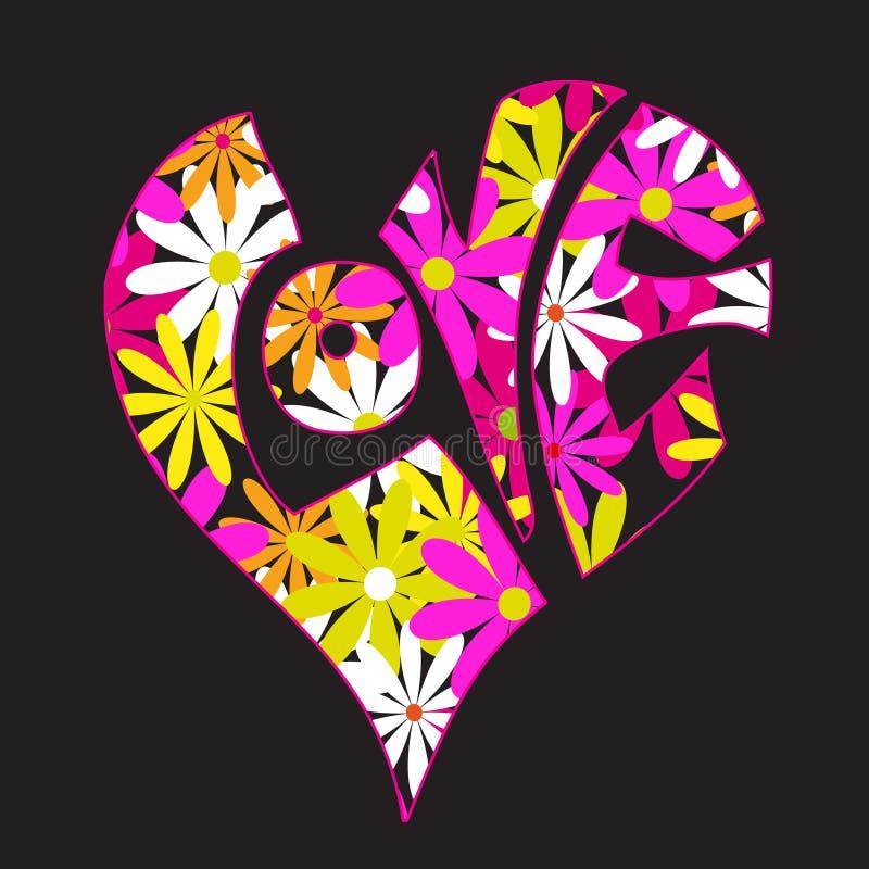 αγάπη λουλουδιών διανυσματική απεικόνιση