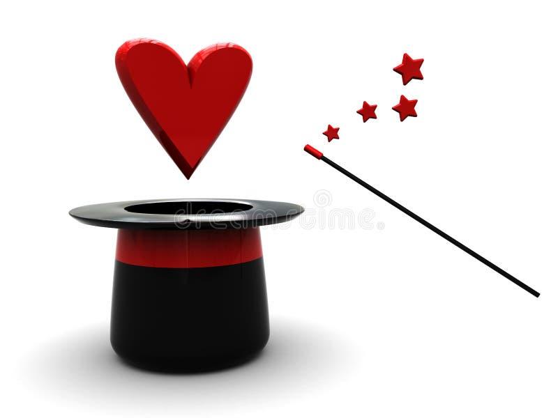 αγάπη μαγική διανυσματική απεικόνιση