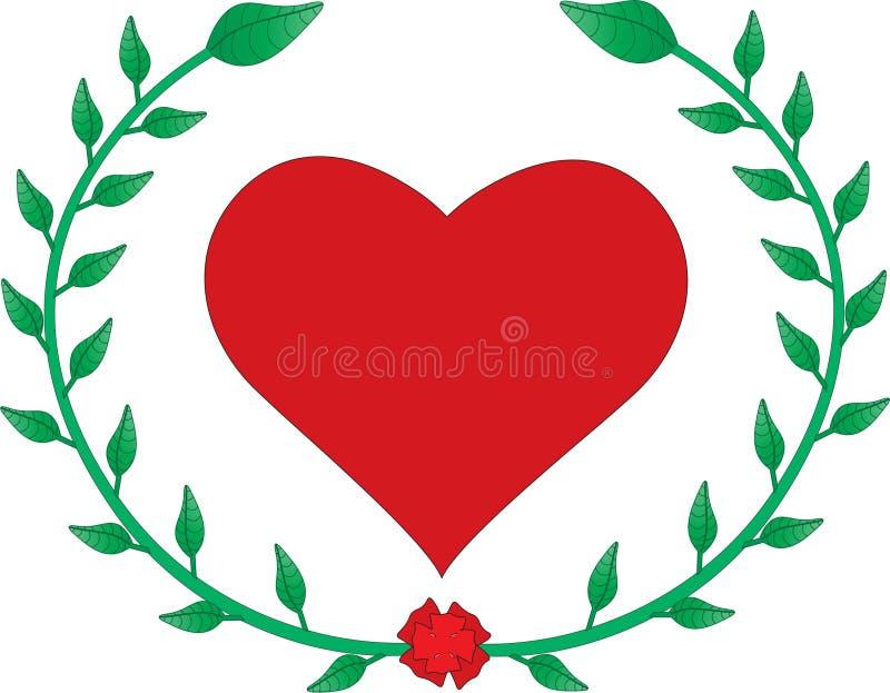 Αγάπη με το φύλλο στοκ φωτογραφία