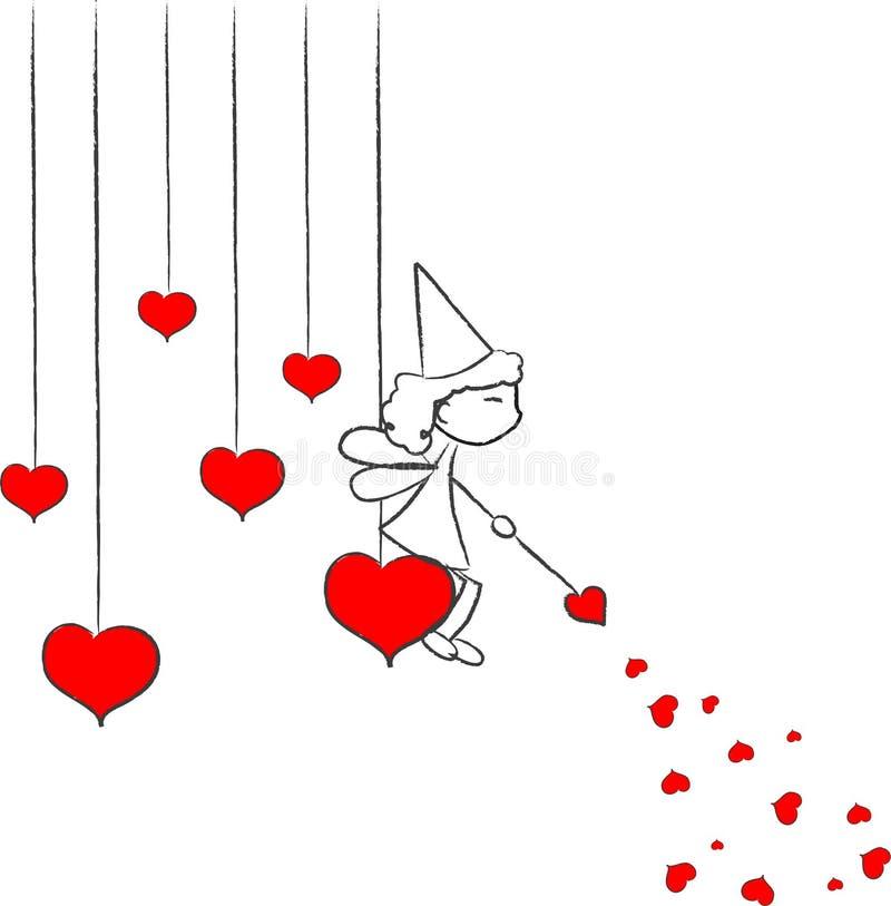 αγάπη νεράιδων ελεύθερη απεικόνιση δικαιώματος