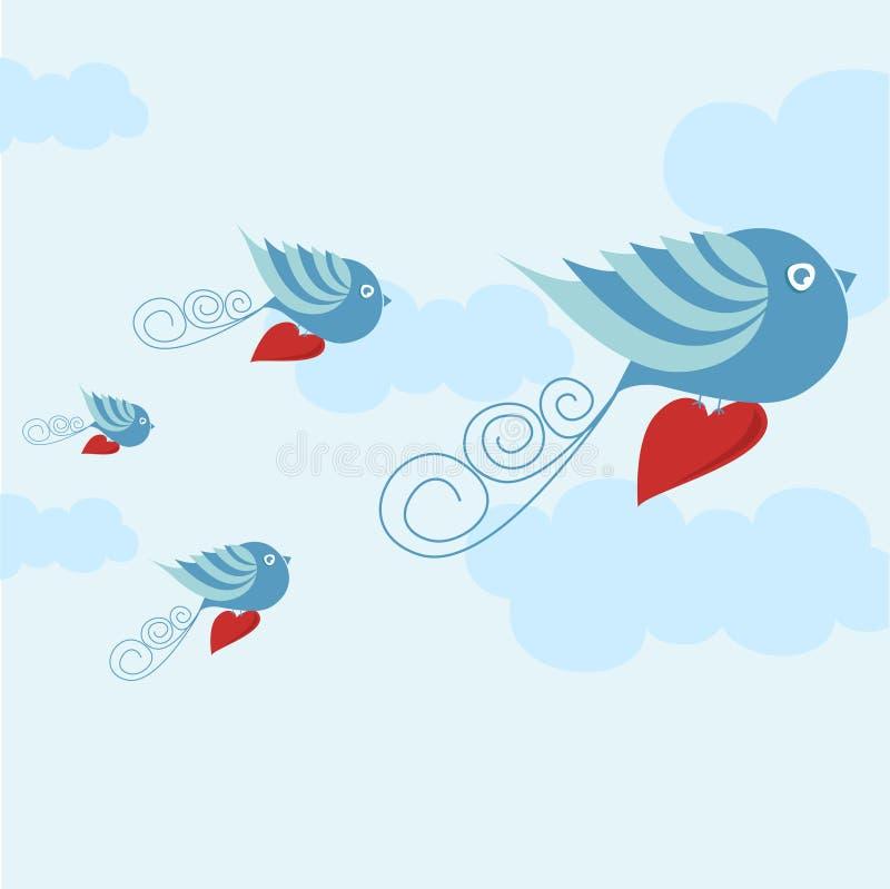 αγάπη πουλιών ελεύθερη απεικόνιση δικαιώματος