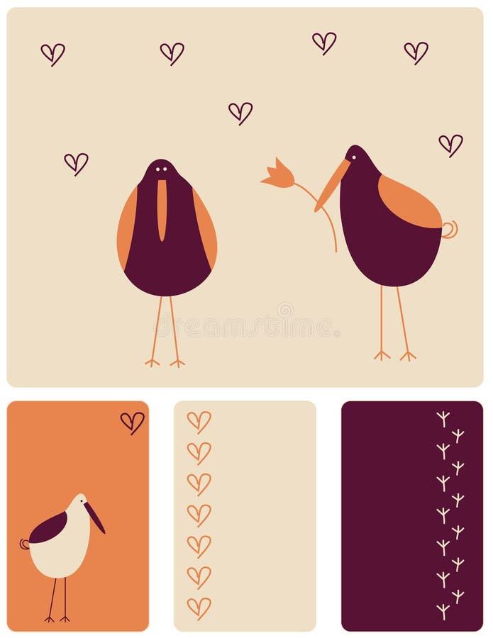 αγάπη πουλιών διανυσματική απεικόνιση