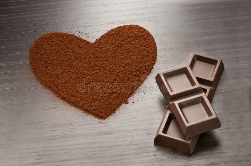 Αγάπη σοκολάτας στοκ εικόνες με δικαίωμα ελεύθερης χρήσης