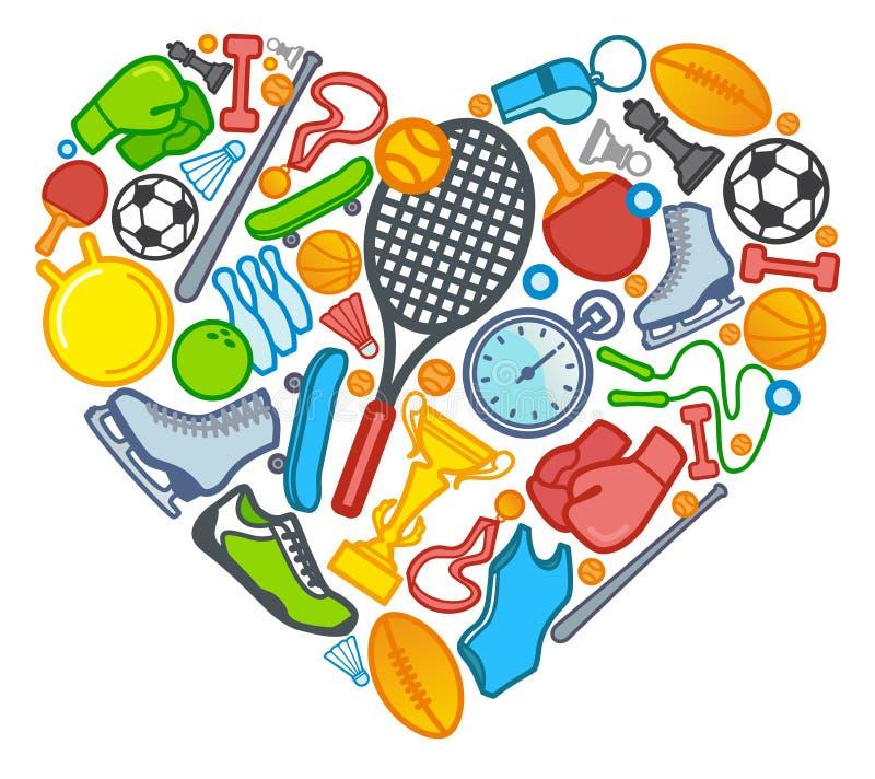 Αγάπη στον αθλητισμό απεικόνιση αποθεμάτων