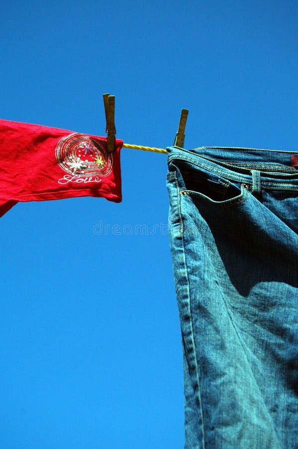 αγάπη τζιν παντελόνι στοκ εικόνα