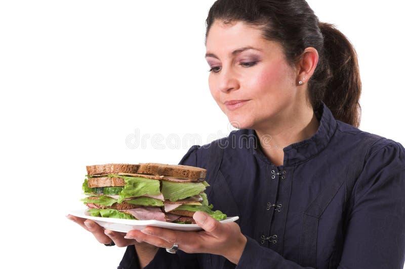 αγάπη του σάντουίτς μου στοκ φωτογραφία με δικαίωμα ελεύθερης χρήσης