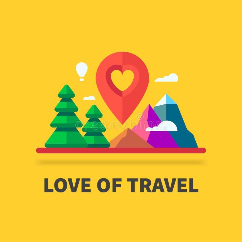 Αγάπη του ταξιδιού διανυσματική απεικόνιση