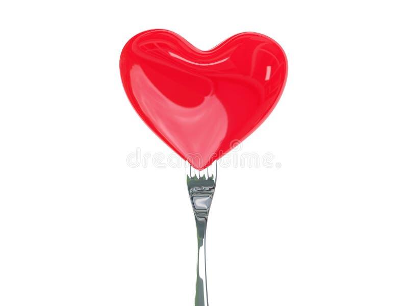 Αγάπη τροφίμων διανυσματική απεικόνιση
