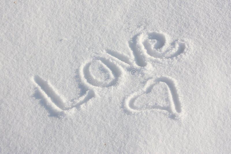 αγάπη χιονώδης εσείς στοκ φωτογραφία με δικαίωμα ελεύθερης χρήσης