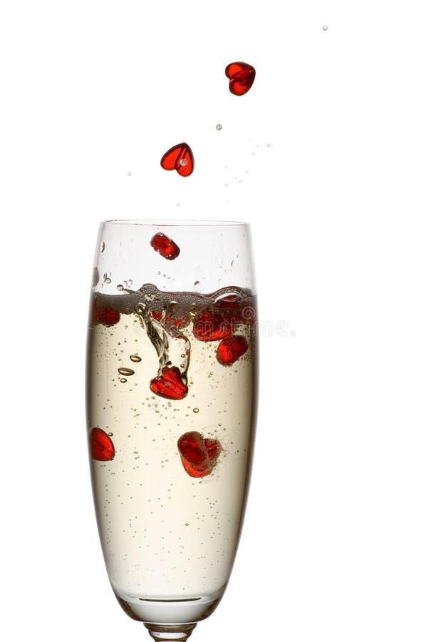 Αγάπη Champagne. Στοκ Εικόνες