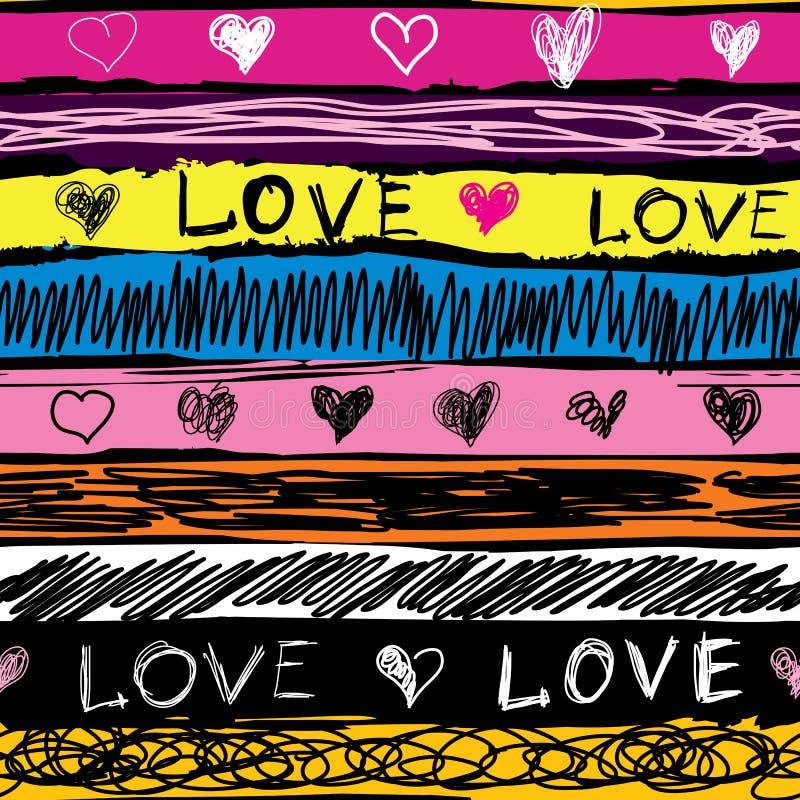 Αγάπη Grunge ελεύθερη απεικόνιση δικαιώματος