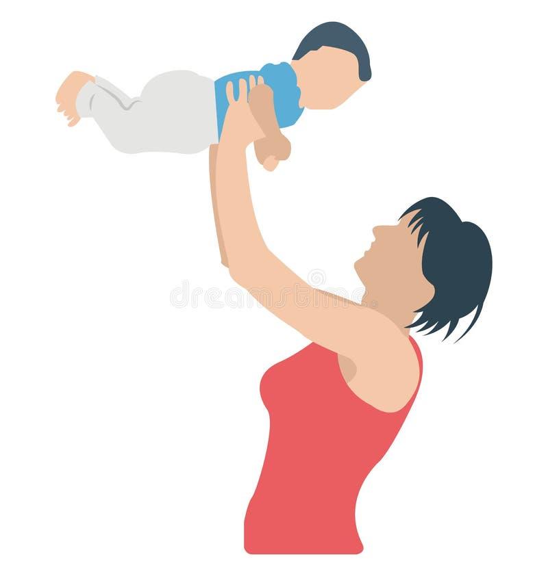 Αγάπη Mom, νήπιο που μπορεί να εκδοθεί εύκολα σε οποιοδήποτε μέγεθος ή να τροποποιηθεί διανυσματική απεικόνιση