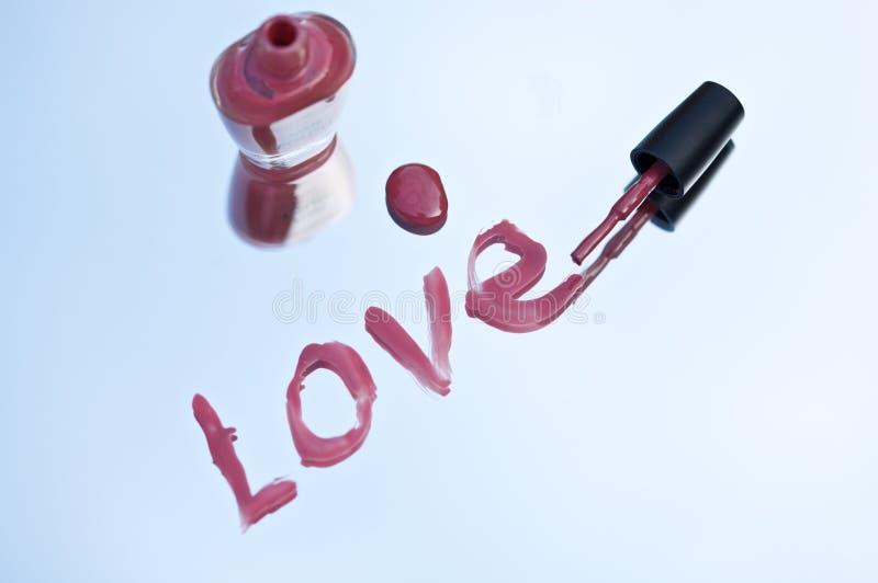 αγάπη nailpolish στοκ εικόνες με δικαίωμα ελεύθερης χρήσης