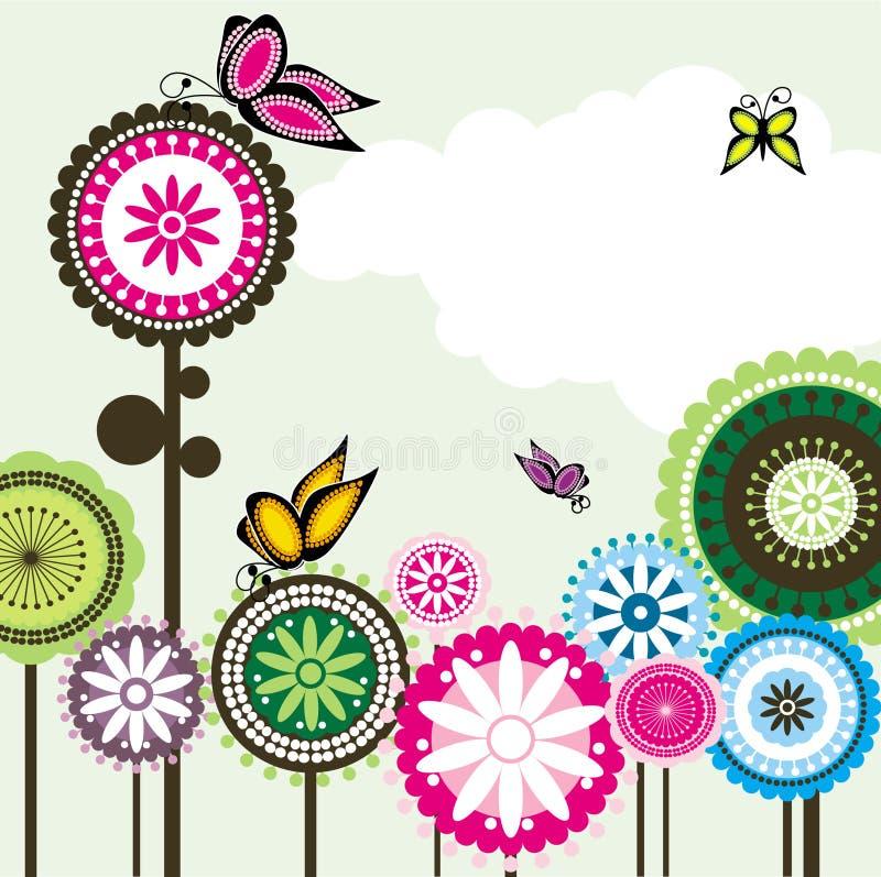 αγάπη Paisley λουλουδιών 2 πετ&alpha διανυσματική απεικόνιση