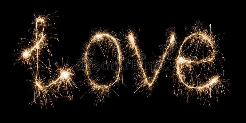 Αγάπη sparkler στοκ εικόνα με δικαίωμα ελεύθερης χρήσης