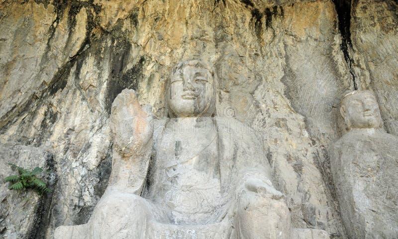 Αγάλματα Κίνα Grotto Βούδας Longmen στοκ εικόνα