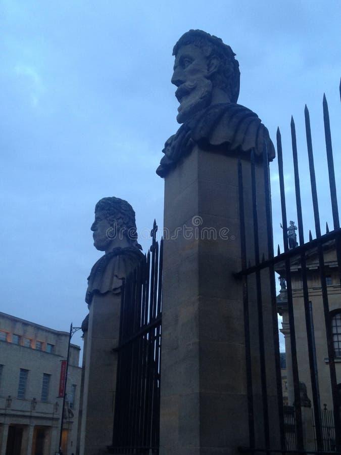 Αγάλματα Οξφόρδη στοκ εικόνες