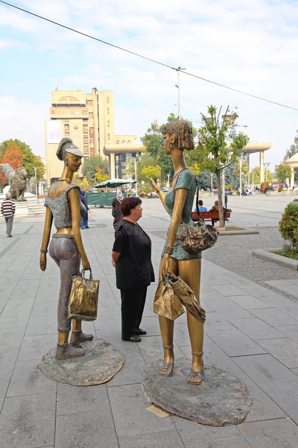 Αγάλματα Σκόπια κιτς στοκ φωτογραφία