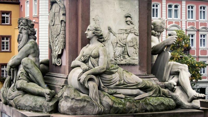 Αγάλματα στη Χαϋδελβέργη στοκ εικόνες με δικαίωμα ελεύθερης χρήσης