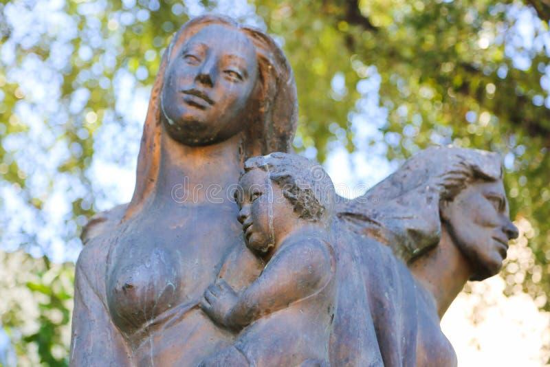 Αγάλματα στον κήπο - Αθήνα, Ελλάδα στοκ φωτογραφίες με δικαίωμα ελεύθερης χρήσης