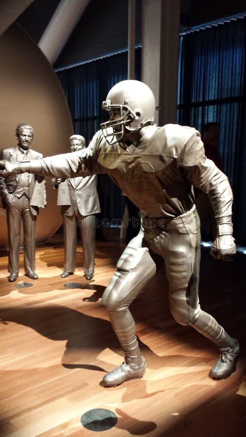Αγάλματα Τζο Μοντάνα 2 μουσείων ποδοσφαίρου SF 49ER στοκ εικόνες με δικαίωμα ελεύθερης χρήσης