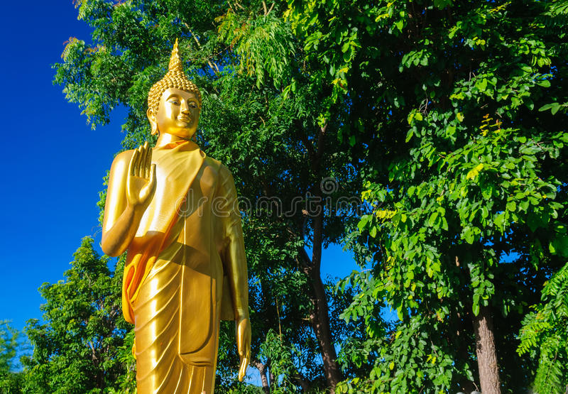 Αγάλματα του Βούδα σε Wat Doi Kham στοκ εικόνα