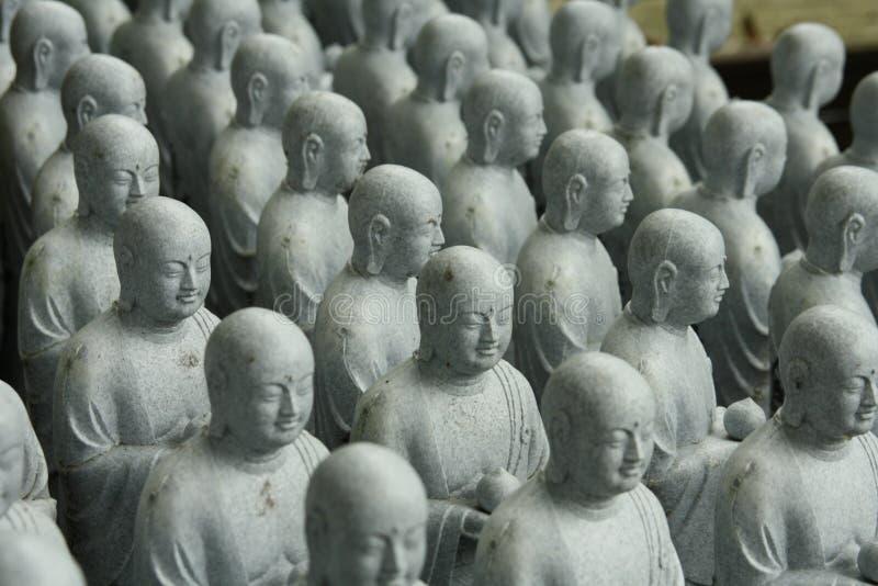 Αγάλματα του Βούδα στο ναό hase-Dera στοκ εικόνα με δικαίωμα ελεύθερης χρήσης