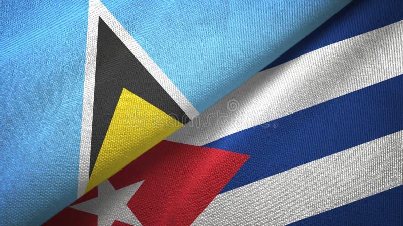 Αγία Λουκία και Κούβα δύο υφαντικό ύφασμα σημαιών, σύσταση υφάσματος ελεύθερη απεικόνιση δικαιώματος