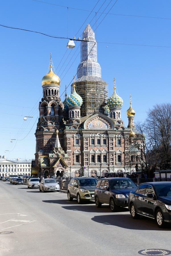 Αγία Πετρούπολη, Ρωσία, τον Απρίλιο του 2019 Ανακαινισμένη Ορθόδοξη Εκκλ στοκ εικόνες