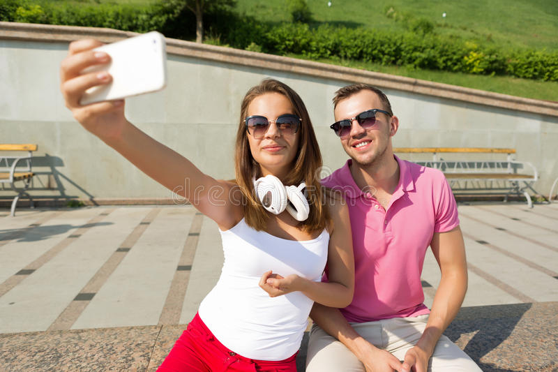 Αγαπάμε selfie στοκ φωτογραφίες