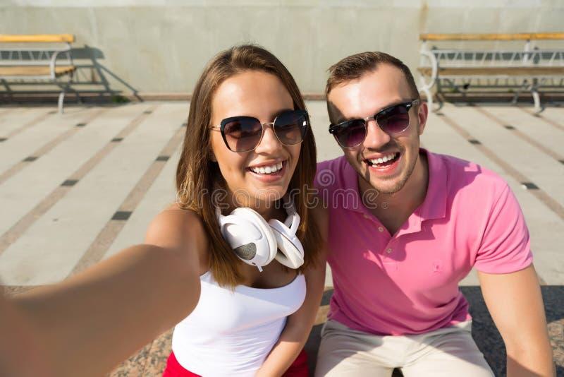 Αγαπάμε selfie στοκ εικόνα