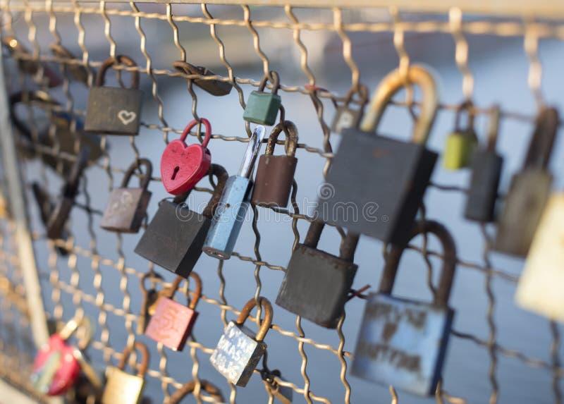 Αγαπήστε τα κλειδώματα στοκ φωτογραφία