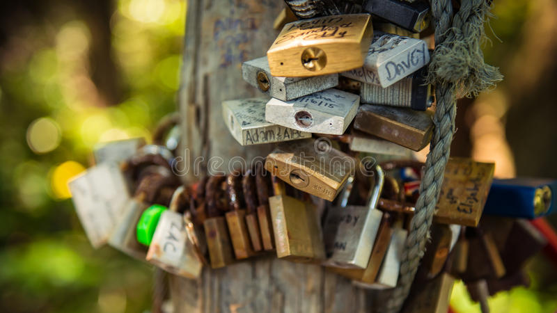 Αγαπήστε τα κλειδώματα στοκ φωτογραφίες