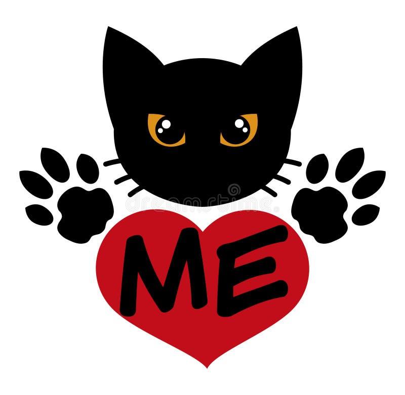 Αγαπήστε τη μαύρη γάτα στοκ εικόνα