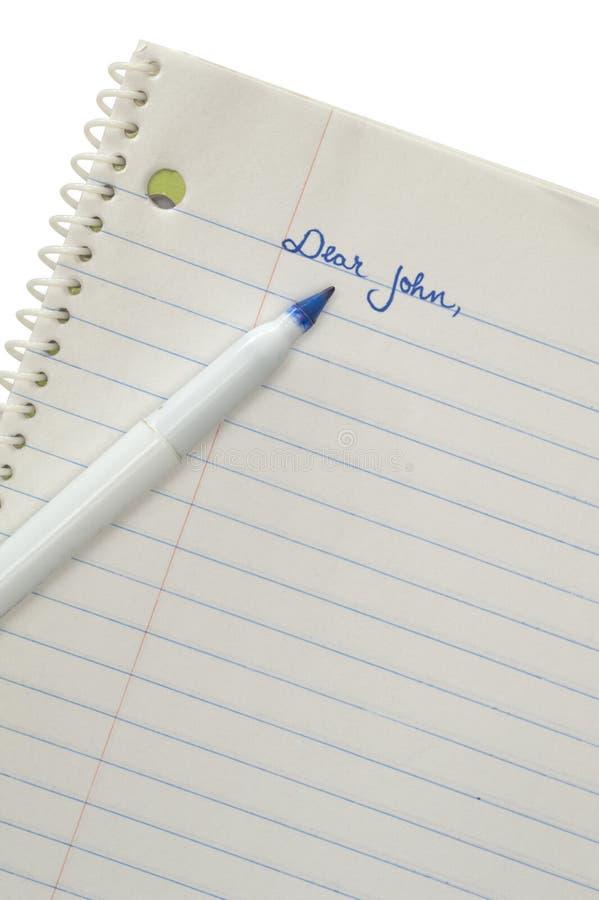 αγαπητή επιστολή John στοκ εικόνες