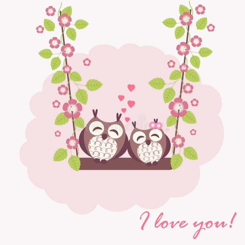 Αγαπώντας κουκουβάγιες ελεύθερη απεικόνιση δικαιώματος