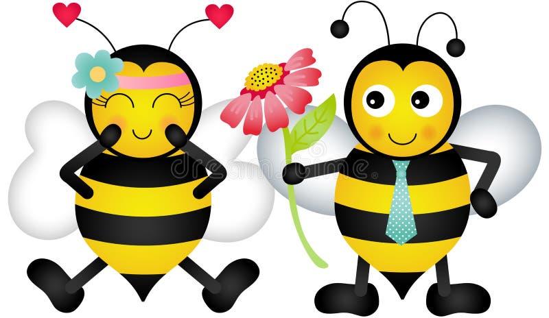Αγαπώντας μέλισσες ελεύθερη απεικόνιση δικαιώματος