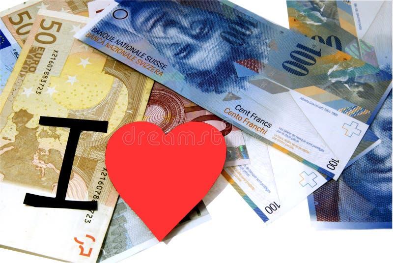 αγαπώ τα χρήματα στοκ φωτογραφία με δικαίωμα ελεύθερης χρήσης