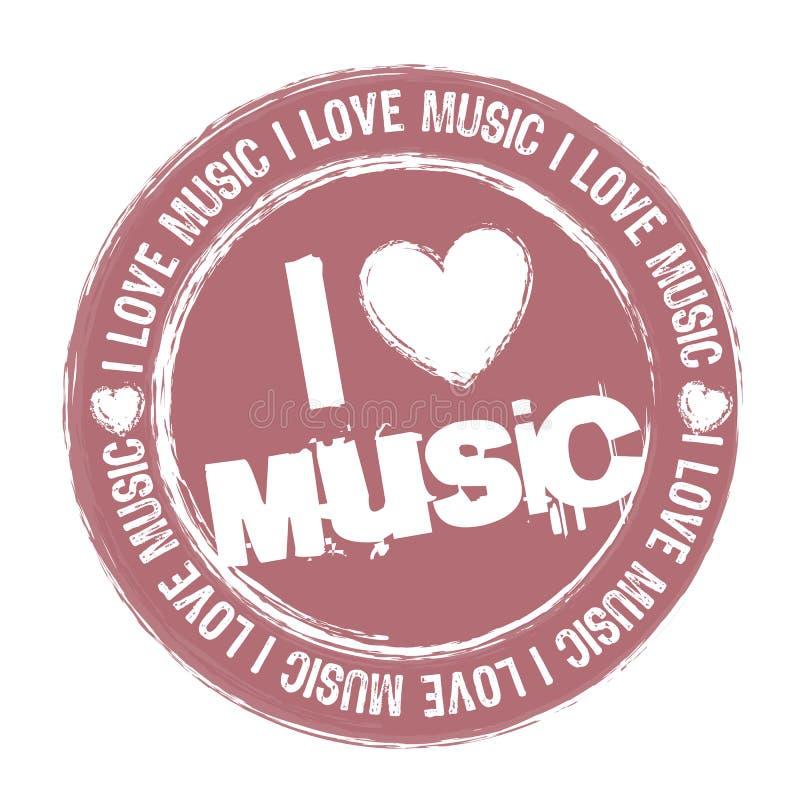 αγαπώ τη μουσική διανυσματική απεικόνιση